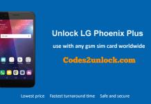 Unlock LG Phoenix Plus