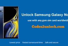 Unlock Samsung Galaxy Note 9