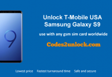 Unlock T-Mobile Samsung Galaxy S9