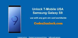 Unlock T-Mobile Samsung Galaxy S9