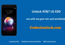 Unlock AT&T LG K30
