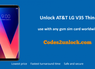 Unlock AT&T LG V35 ThinQ