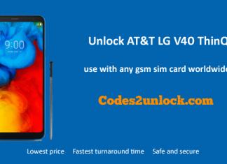 Unlock AT&T LG V40 ThinQ