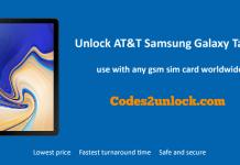 Unlock AT&T Samsung Galaxy Tab S4
