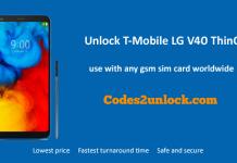 Unlock T-Mobile LG V40 ThinQ