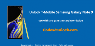 Unlock T-Mobile Samsung Galaxy Note 9