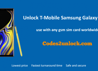 Unlock T-Mobile Samsung Galaxy Note 9
