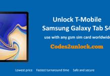 Unlock T-Mobile Samsung Galaxy Tab S4