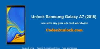 Unlock Samsung Galaxy A7 (2018)