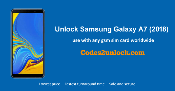 How to Unlock Samsung Galaxy A7 (2018) Easily