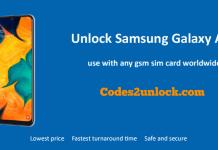 Unlock Samsung Galaxy A50