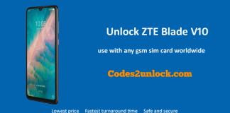 Unlock ZTE Blade V10