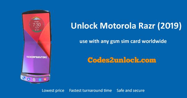 How to Unlock Motorola Razr (2019) Easily