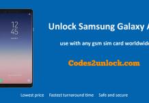 Unlock Samsung Galaxy A30