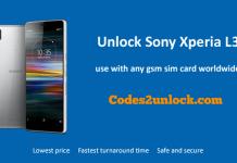 Unlock Sony Xperia L3