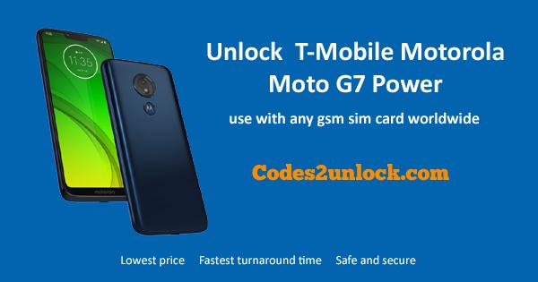 How to Unlock T-Mobile Motorola Moto G7 Power Easily