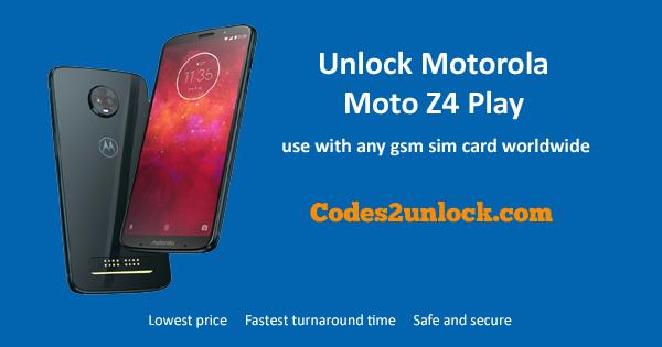 How to Unlock Motorola Moto Z4 Play Easily