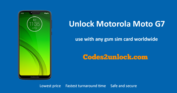 How to Unlock Motorola Moto G7 Easily