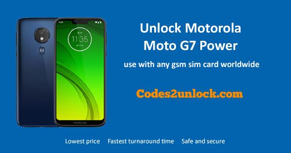 How to Unlock Motorola Moto G7 power Easily