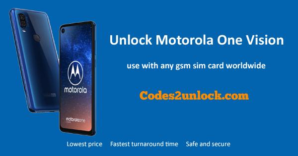 How to Unlock Motorola One Vision Easily