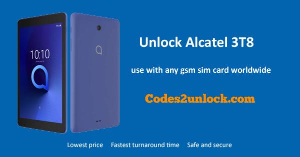 Unlock-Alcatel-3T8