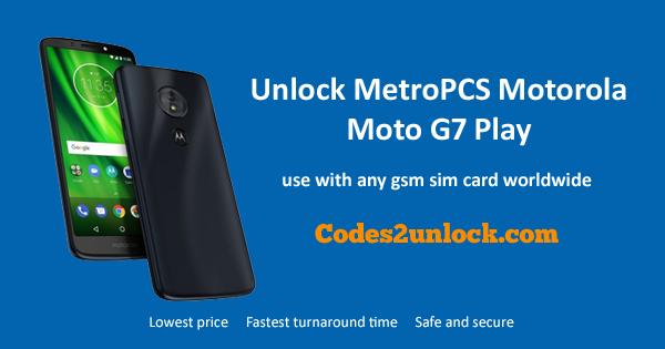 How to Unlock MetroPCS Motorola Moto G7 Play Easily