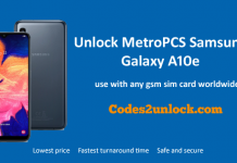 Unlock MetroPCS Samsung Galaxy A10e