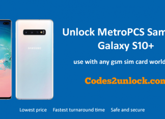 Unlock MetroPCS Samsung Galaxy S10+