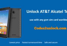 Unlock AT&T Alcatel Tetra
