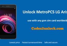 Unlock MetroPCS LG Aristo 3