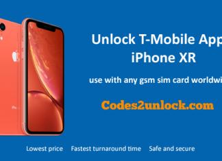 Unlock T-Mobile Apple iPhone XR