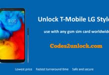 Unlock T-Mobile LG Stylo 5