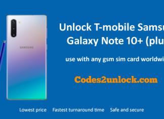Unlock T-mobile Samsung Galaxy Note 10+ (plus)