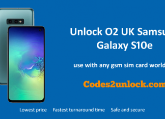 Unlock O2 UK Samsung Galaxy S10e