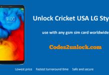 Unlock Cricket USA LG Stylo 4