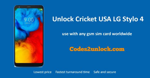 How to Unlock Cricket USA LG Stylo 4 Easily