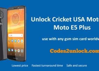 Unlock Cricket USA Motorola Moto E5 Plus