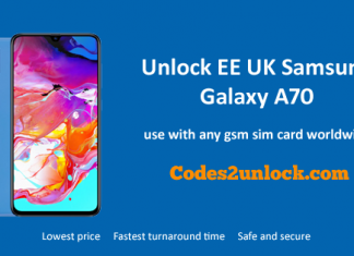 Unlock EE UK Samsung Galaxy A70