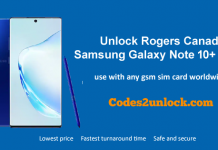 Unlock Rogers Canada Samsung Galaxy Note 10 Plus