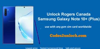 Unlock Rogers Canada Samsung Galaxy Note 10 Plus