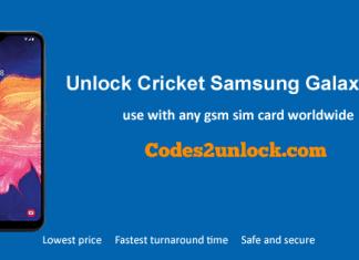 Unlock Cricket Samsung Galaxy A10e