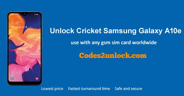 How to Unlock Cricket Samsung Galaxy A10e Easily