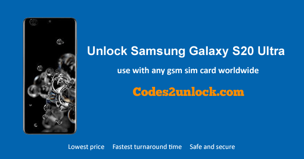 How To Unlock Samsung Galaxy S20 Ultra Easily