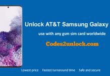 Unlock AT&T Samsung Galaxy S20
